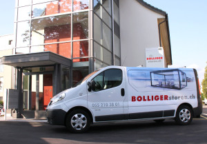 Voll ausgerüstete Servicefahrzeuge für einen umgehenden und fachgerechten Service vor Ort.