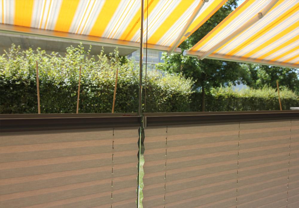 Innenbeschattung Plissee / Referenz Wintergarten