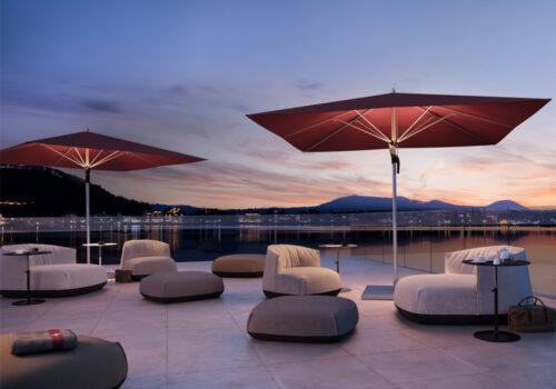 Mittelstock-Sonnenschirm Fortello LED © By GLATZ AG, Schweiz